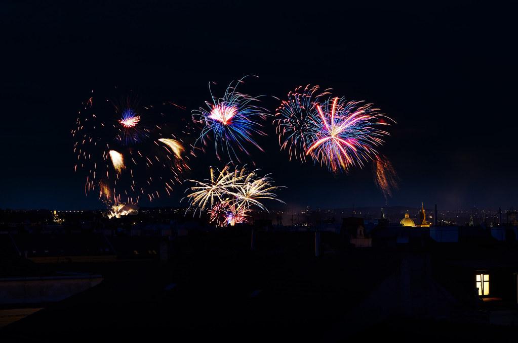 Feuerwerk in Prag - Tschechien