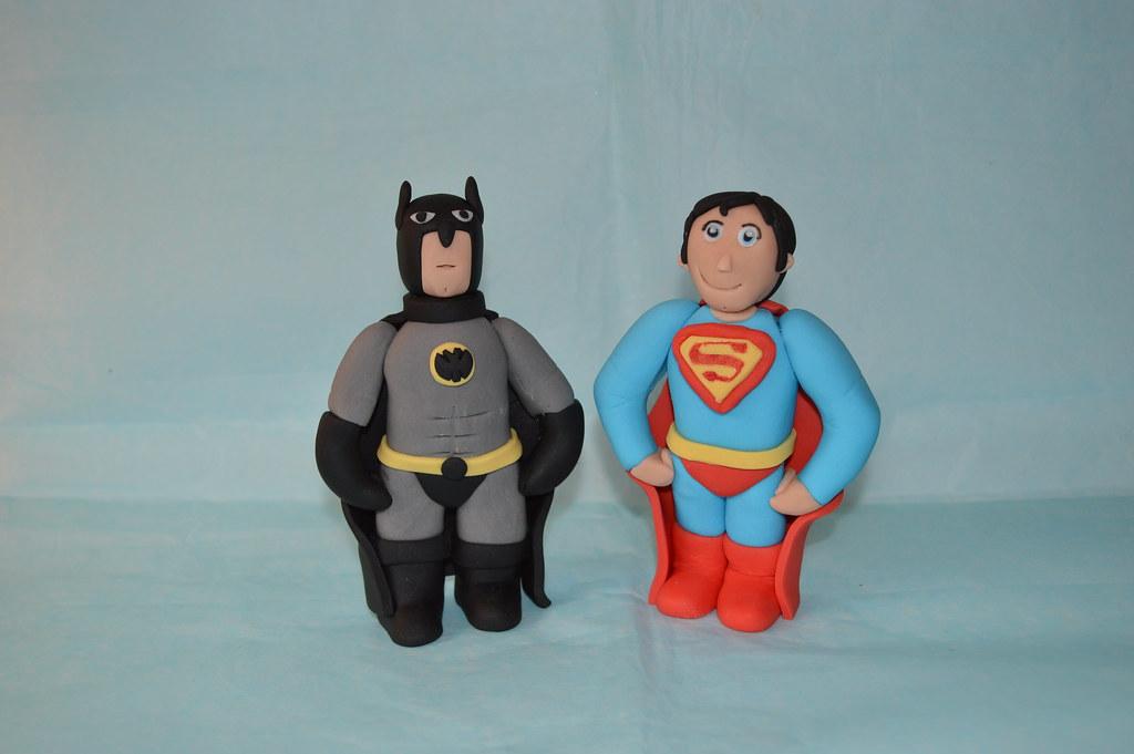 Excellent Batman Superman Superhero Cape Boy Birthday Cake Topper Fi Flickr Personalised Birthday Cards Paralily Jamesorg
