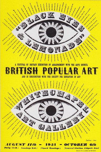 "Festival of Britain, 1951 - ""Black Eyes and Lemonade - British Popular Art"" poster by Barbara Jones, 1951 