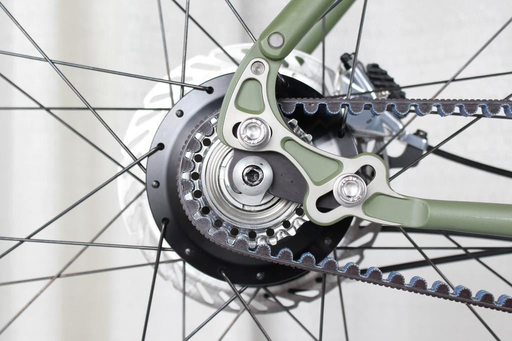 belt drive and internal-hub gears