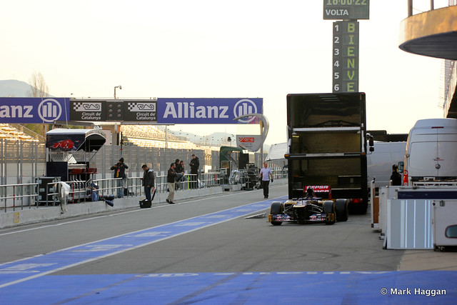 The Pit Lane after Formula One Winter Testing, 3rd March 2013