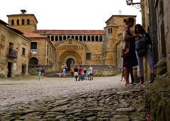 Cobblestones in Santillana del Mar, Spain