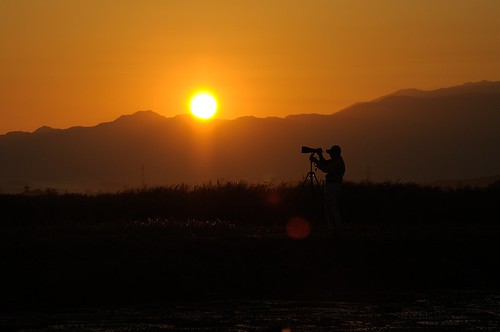morning japan dawn nikon niigata cameraman 2012 d90 朝日 fukushimagata 福島潟 viewnx