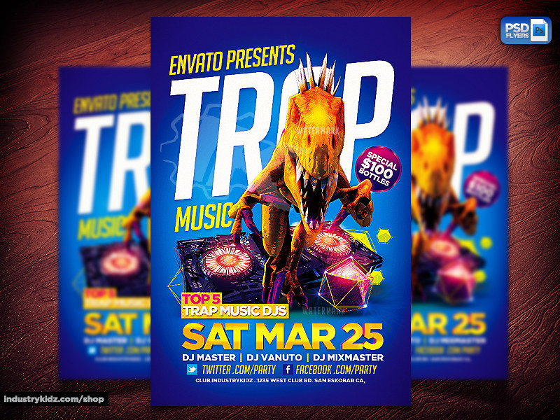 Trap Music Flyer PSD | Trap Music PSD Flyer You can Download