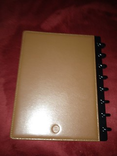 Staples Arc notebook brown leather A5