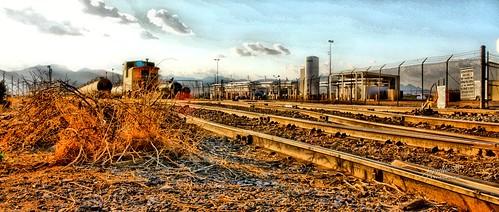 railroad train rails paintshoppro tonemapping