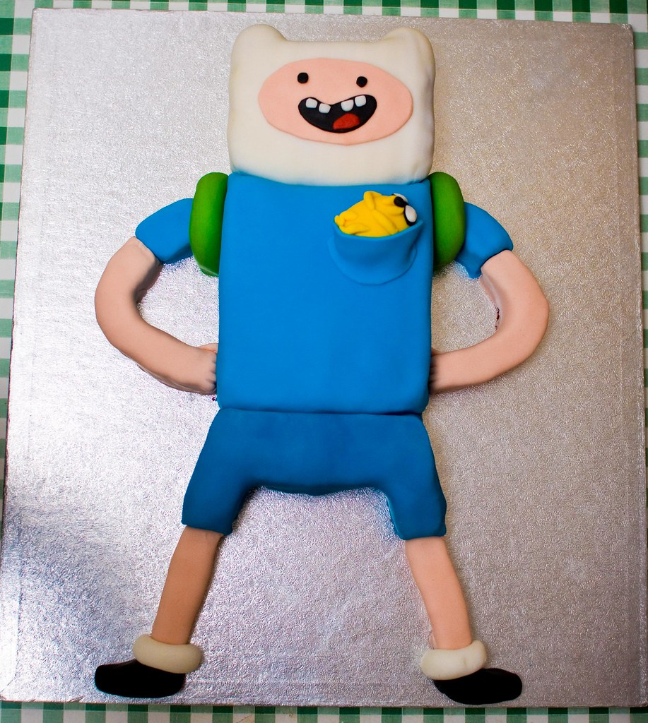 Peachy Finn The Human Birthday Cake Finn Cake For Squeezeomatic Flickr Personalised Birthday Cards Petedlily Jamesorg