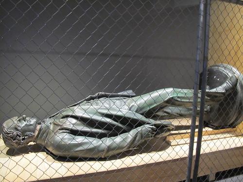 John Robert Godley statue at the Quake City exhibition
