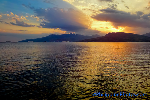 sunset sea sky clouds bay olongapo subic baloybeach barriobarretto