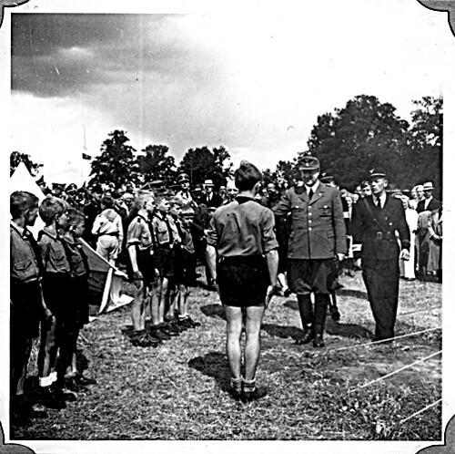 Borrestevnet 1943, Vidkun Quisling og guttehirden.