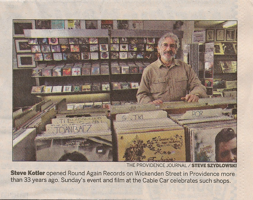 Steve Kotler at Round Again Records at 278 Wickenden Stree