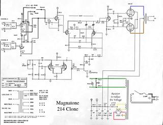 Magnatone-214-Clone   Edited 214 clone schematic. Magnetic C…   Sam on