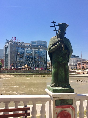 201705 - Balkans - Statue of a Saint by Vardar River - 58 of 66 - Skopje - Skopje, May 31, 2017 | by mrflip
