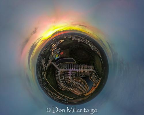 mavicpro drone tinyworld sunset sunsets skypainter outdoors 360photography aerial tinyplanet sky florida venice unitedstates us
