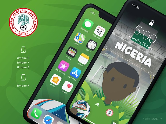 Team Nigeria iPhone Wallpaper