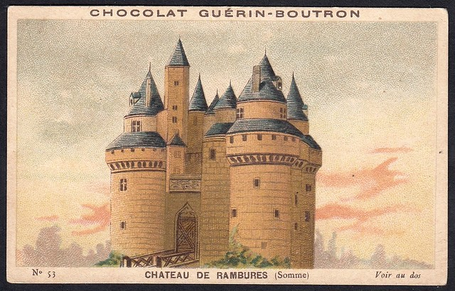French Tradecard - Chateau de Rambures