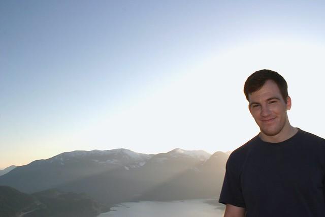 Dan atop First Peak on Stawamus Chief