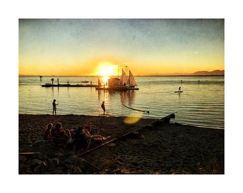 sunset crescentbeach beach