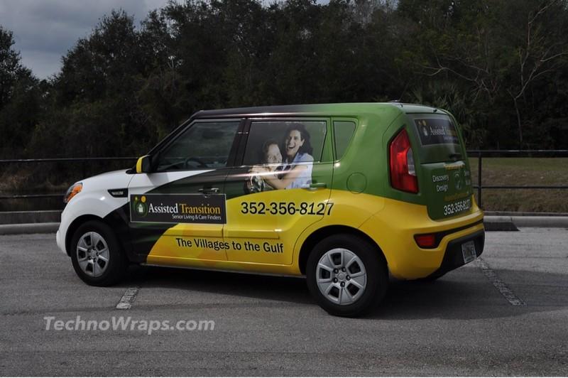 Kia Soul vinyl car wrap by TechnoSigns