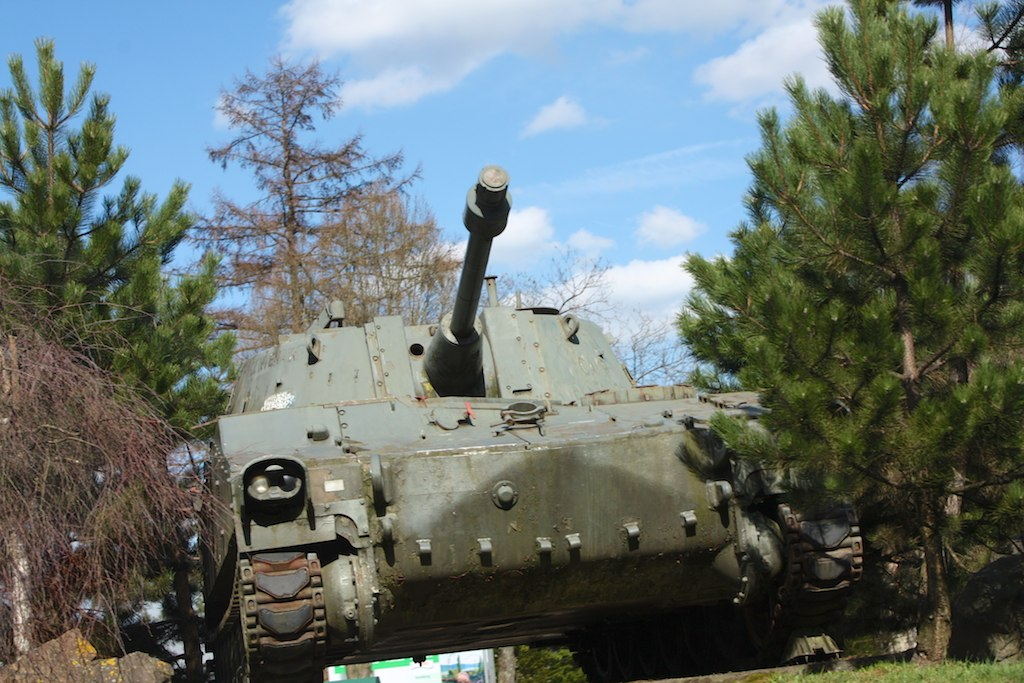 M108 105 mm Self-Propelled Howitzer Tank, Elsenborn Camp