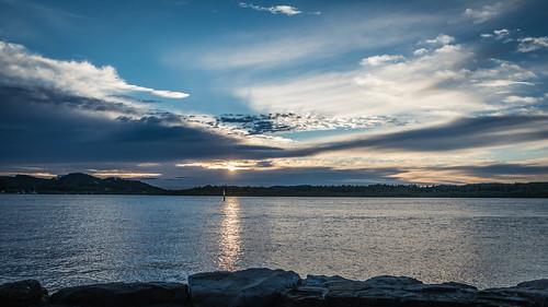 daybreak woywoy landscape nature bay nswcentralcoast newsouthwales sea nsw brisbanewater scenery centralcoastnsw sky clouds dawn sunrise outdoors seascape water centralcoast waterscape australia