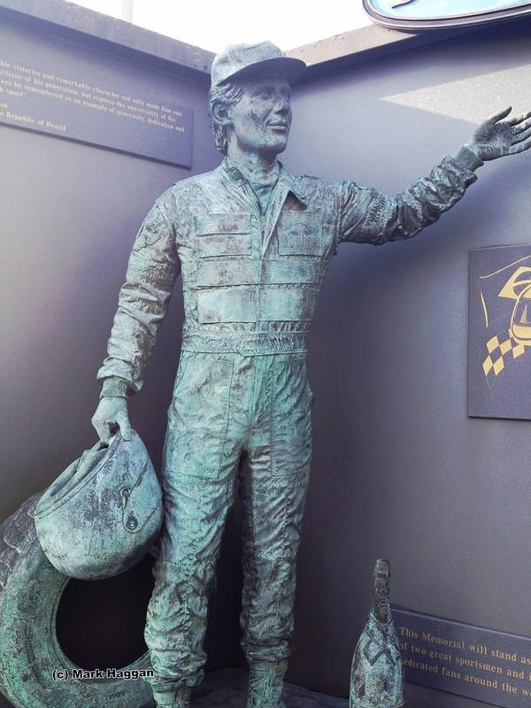 The Senna memorial at Donington Park