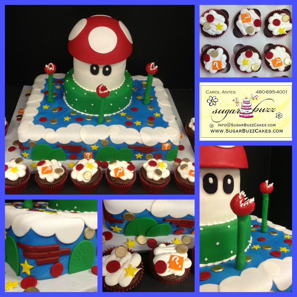 Stupendous Super Mario Birthday Cake A Photo On Flickriver Funny Birthday Cards Online Kookostrdamsfinfo