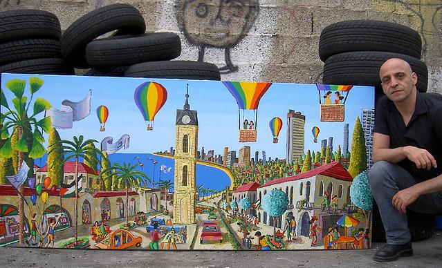 אמנות ישראלית צעירה עכשווית מודרנית  צייר ישראלי צעיר  מודרני  אומן אומנות ציורים גלריות תערוכה  נאיבית נאיבי תערוכות ישראל מכירה קניה