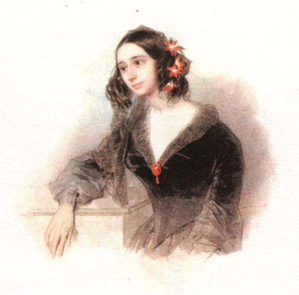 Е. П. Ростопчина. П. Ф. Соколов. Акварель. 1842-43 годы