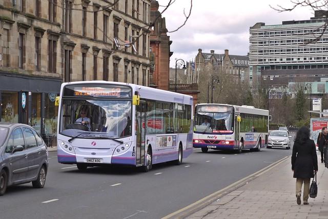 First Glasgow 67750 (SN62AOG), 65596 (W596SNG)