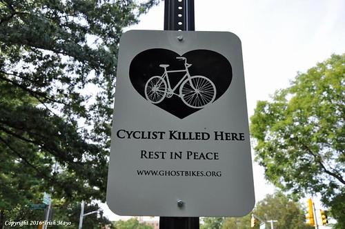 Ghost Bike Signage