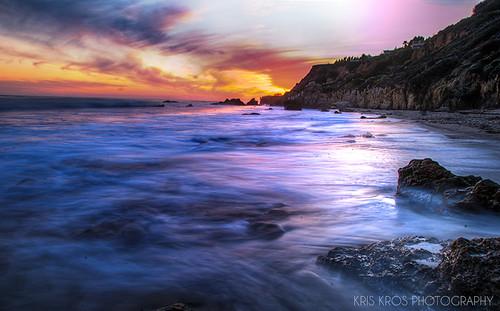 california county ca sunset sky seascape beach clouds landscape coast la los nikon highway rocks long exposure waves pacific angeles el malibu boulders pch kris hdr kk kkg matador d300 photomix kros tonemapped 5xp elmatadorstatebeach kkgallery