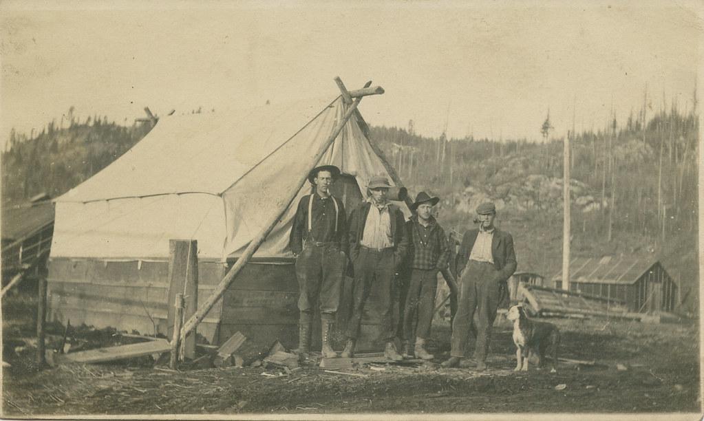 Canvas Wall Tent, 1912 - Riparia, Washington   Date: 1912 So