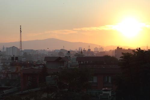 nepal sunrise day1 kathmandu