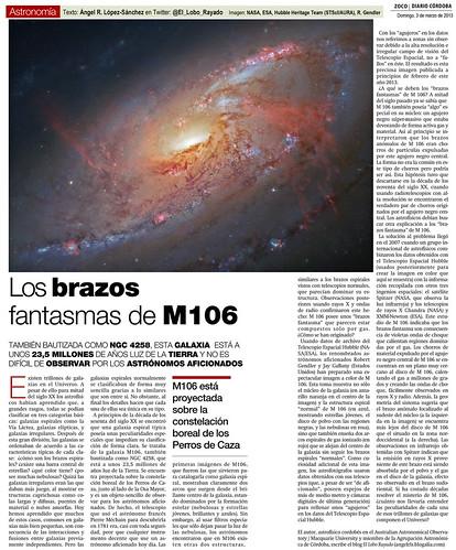 Zoco de Astronomía: Los brazos fantasmas de M 106 | by Ángel López-Sánchez