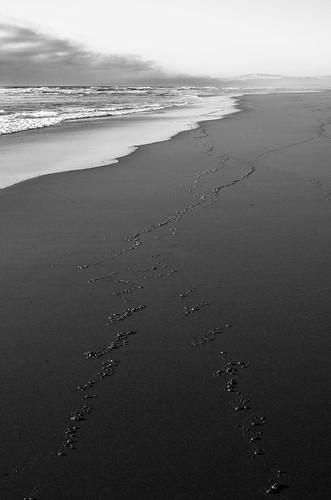 ocean cloud white mountain black beach dark surf path wave trail shore bubble samoa eureka distant