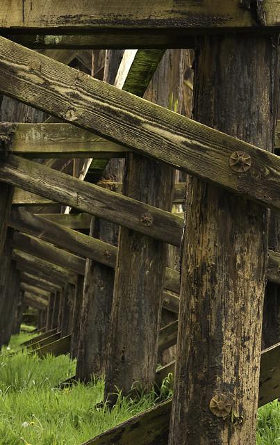 Under the railroad trestle