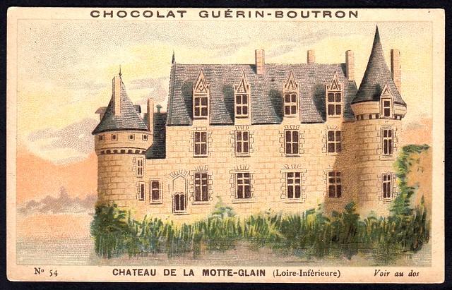 French Tradecard - Chateau de la Motte-Glain