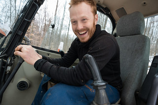 Happy Tyler Driving an Excavator | by goingslowly