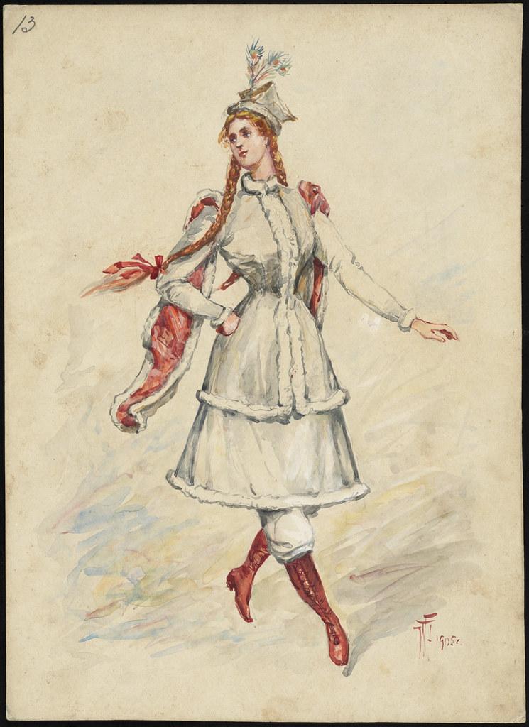 Unidentified Italian opera costume design plate 13