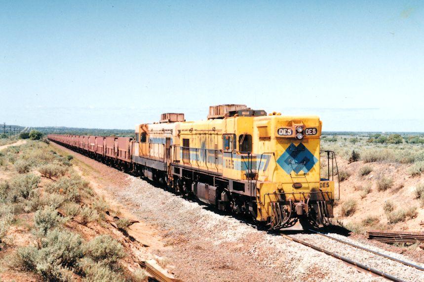 DE5 DE3 Train 52 14km Steelwork - Middleback Junction Section 10 10 1993 by Daven Walters