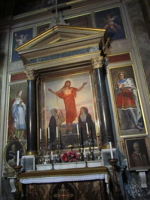 2012 S. Maria sopra Minerva c, Cappella del S. Cuore a, Cristo tra S. Caterina da Siena e S. Maria Alacoque di C. Mezzana 1922