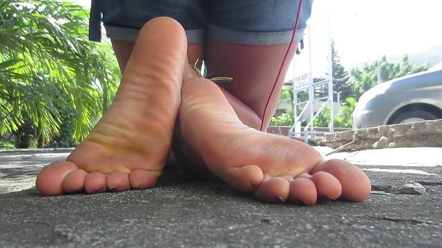 Young latina girl big soles size 12