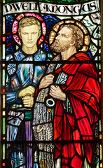 Michael Rope as St Michael and St Peter by Margaret Agnes Rope, 1912
