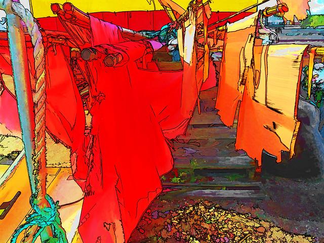 washday in a danish harbor