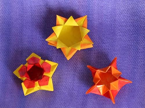 Petits pots jaunes-oranges-rouges | by Adam Origami