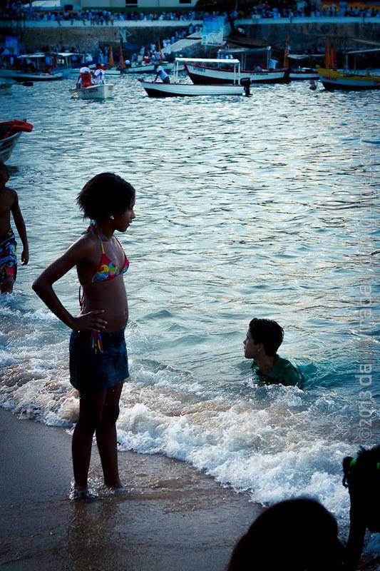 Festa de Iemanjá na praia do Rio Vermelho