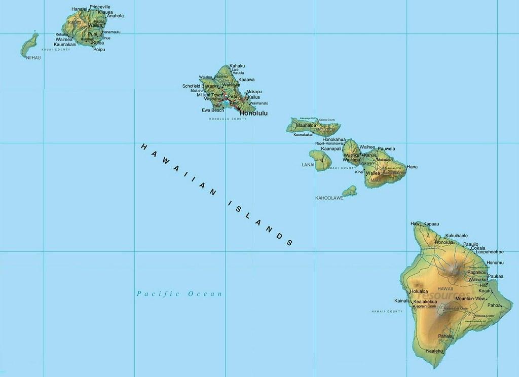 Hawaii Islands Map | Map from the Hawaii islands | Werner ... on mauna loa, french polynesia map, oahu map, diamond head, james cook, hawaiian language, honolulu map, caribbean islands map, waikīkī, kauai map, hawaiian island chain, new zealand map, aleutian islands map, tropical island map, necker island, hawaiian island colors, midway atoll, tasmania map, hawaii map, maui map, pacific islands map, big island map, bahamas map, austria map, ford island map, mauna kea, new caledonia map, japan map,