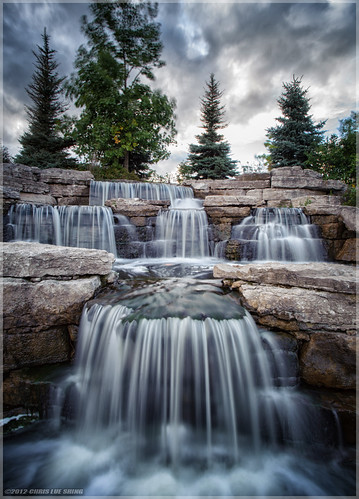 nikond700 tamron1935f3545 richmondhill ontario park richmondgreen canada wind tripod nd8 ndfilter sunset sky clouds longexposure waterfall trees explore explored ©chrislueshing nikon d700