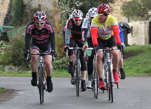Local cyclists in local race